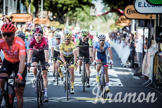 Yellow Jersey Julian Alaphilippe (FRA/Deceuninck Quick <br /> crossing the finish line.<br /> <br /> Stage 4: Reims to Nancy (215km)<br /> 106th Tour de France 2019 (2.UWT)<br /> <br /> ©kramon