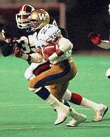 Perry Tuttle Winnipeg Blue Bombers 1986. Photo F. Scott Grant
