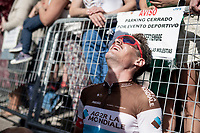 an exhausted Kilian Frankiny (SUI/Groupama - FDJ) at the finish<br /> <br /> Stage 17: Aranda de Duero to Guadalajara (220km)<br /> La Vuelta 2019<br /> <br /> ©kramon