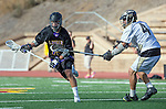 San Diego, CA 05/25/13 - Jack Beetham (Carlsbad #13) and John Rankin (Westview #4) in action during the 2013 Boys Lacrosse San Diego CIF DIvision 1 Championship game.  Westview defeated Carlsbad 8-3.