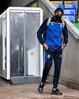 Bolton Wanderers' Jamie Mascoll arrives at the stadium <br /> <br /> Photographer Andrew Kearns/CameraSport<br /> <br /> The EFL Sky Bet League Two - Bolton Wanderers v Oldham Athletic - Saturday 17th October 2020 - University of Bolton Stadium - Bolton<br /> <br /> World Copyright © 2020 CameraSport. All rights reserved. 43 Linden Ave. Countesthorpe. Leicester. England. LE8 5PG - Tel: +44 (0) 116 277 4147 - admin@camerasport.com - www.camerasport.com
