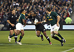 All Black Joe Rokocoko during the international rugby match between the New Zealand All Blacks and South Africa at Jade Stadium, Christchurch, New Zealand. 14 July 2007. Photo: Marc Weakley