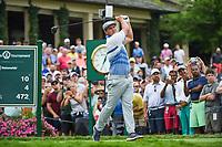 4th June 2021; Dublin, Ohio, USA; Bryson DeChambeau (USA) watches his tee shot on 10 during the Memorial Tournament Rd2 at Muirfield Village Golf Club on June 4, 2021 in Dublin, Ohio.