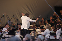 MONTREAL, CANADA - August 14 - <br />  The Montreal Symphony Orchestra and Maestro Nagano perform a large scale outdoor concert on the Esplanade Financiere Sun Life of the Olympic Stadium, August 14, 2014.<br /> <br /> Photo : Agence Quebec Presse - Philippe Nguyen