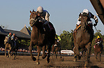 28 August 10: Afleet Express (inside) and jockey Javier Castellano outduel Fly Down and jockey Jose Lezcano to win the Travers Stakes at Saratoga Race Course in  Saratoga Springs, New York.