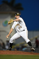 Bradenton Marauders pitcher Henry Hirsch (50) delivers a pitch during a game against the St. Lucie Mets on April 11, 2015 at McKechnie Field in Bradenton, Florida.  St. Lucie defeated Bradenton 3-2.  (Mike Janes/Four Seam Images)