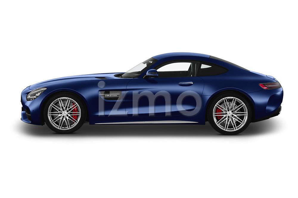 Car Driver side profile view of a 2020 Mercedes Benz AMG-GT C 3 Door Coupe Side View