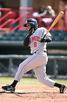April 15th 2008:  Infielder Jonathan Tucker (6) of the Bowie Baysox, Class-AA affiliate of the Baltimore Orioles, during a game at Jerry Uht Park in Erie, PA.  Photo by:  Mike Janes/Four Seam Images