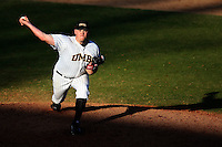 March 14, 2010:  Pitcher J.R. Seader of UMBC in a game vs. Bucknell at Chain of Lakes Stadium in Winter Haven, FL.  Photo By Mike Janes/Four Seam Images