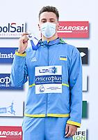 Podium<br /> 50m Breaststroke Men<br /> KRYZHANIVS'KYY Rostyslav UKR Ukraine Silver Medal<br /> LEN European Junior Swimming Championships 2021<br /> Rome 2179<br /> Stadio Del Nuoto Foro Italico <br /> Photo Andrea Masini / Deepbluemedia / Insidefoto