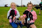 Attending the Dog show at the Churchill Heritage Week festivities in Churchill on Sunday, l to r: Ava Flaherty with Marley and Hannah Whelan with Coco from the Spa.