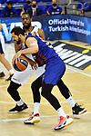 EUROLEAGUE 2020-2021. Playoffs.Game 2.<br /> FC Barcelona vs Zenit St. Petersburg: 81-78.<br /> Nikola Mirotic vs Will Thomas.