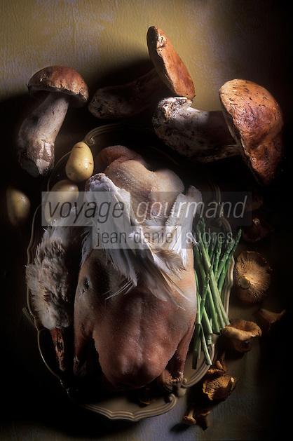 Gastronomie générale: Oie grasse et champignons