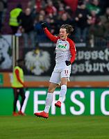 04.02.2018,  Football 1.Liga 2017/2018, 21. match day, FC Augsburg - Eintracht Frankfurt, in WWK-Arena Augsburg.  Michael Gregoritsch (FC Augsburg). *** Local Caption *** © pixathlon<br /> <br /> +++ NED + SUI out !!! +++<br /> Contact: +49-40-22 63 02 60 , info@pixathlon.de