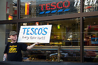 """12.06.2014 - """"Homes Not Spikes"""" - Two Demos At Tesco"""