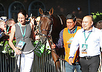 June 7, 2014: Samraat enters the paddock before the Belmont Stakes. Tonalist, trained by Christophe Clement and ridden by Joel Rosario wins the 146th running of the Grade I Belmont Stakes at Belmont Park , Elmont, NY.   ©Joan Fairman Kanes/ESW/CSM