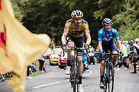 Tom Dumoulin (NED/Jumbo Visma) and  Marc Soler (ESP/Movistar) up the Col de Marie Blanque<br /> <br /> Stage 9 from Pau to Laruns 153km<br /> 107th Tour de France 2020 (2.UWT)<br /> (the 'postponed edition' held in september)<br /> ©kramon