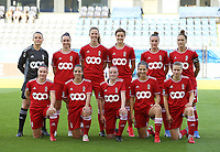 (Back row L to R) goalkeeper Hillary Damman (1) of Standard ,Loredana Humartus (3) of Standard, Hanne Merkelbach (25) of Standard, Maurane Marinucci (7) of Standard , Justine Gomboso (11) of Standard, Maud Coutereels (17) of Standard , front row Davinia Vanmechelen (10) of Standard , Vanity Lewerissa (21) of Standard , Zoe Van Eynde (14) of Standard , Laura Miller (9) of Standard and Aster Janssens (5) of Standard  pose for a team photo before a female soccer game between Oud Heverlee Leuven and Standard Femina de Liege on the third matchday of the 2021 - 2022 season of Belgian Womens Super League , Sunday 5 th of September 2021  in Leuven , Belgium . PHOTO SPORTPIX.BE   SEVIL OKTEM