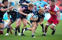 4th June 2021; AJ Bell Stadium, Salford, Lancashire, England; English Premiership Rugby, Sale Sharks versus Harlequins;  Akker Van Der Merwe of Sale Sharks leads the attack