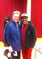 BNPS.co.uk (01202 558833)<br /> Pic: AndrewBlake/BNPS<br /> <br /> Andrew Blake pictured with actor, Danny John-Jules<br /> <br /> A teenager who was able to secure the autographs of all four Beatles at a TV studio as the audience was too old to care is selling them 56 years later.<br /> <br /> Andrew Blake was aged 15 when he and his mum went to the TV studios for the Fab Four's recording for an entertainment show in 1963.<br />  <br /> While scores of screaming fans gathered outside, ABC Television's Big Night Out attracted more of an older studio audience who were too grown up to mob the band. <br /> <br /> And so after a youthful looking John, Paul, George and Ringo finished their performance of three songs, Andrew found he had no competition for securing their autographs.