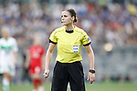 Hungarian referee Katalin Kulcsar during UEFA Women's Champions League 2015/2016 Final match.May 26,2016. (ALTERPHOTOS/Acero)