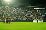 Levante UD's and Real Sociedad's players during the tribute to the victims of the earthquake in Mexico during La Liga match. September 21,2017. (ALTERPHOTOS/Acero)