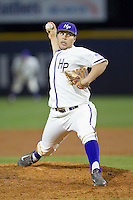 High Point Panthers starting pitcher Andre Scrubb (16) in action against the Coastal Carolina Chanticleers at Willard Stadium on March 15, 2014 in High Point, North Carolina.  The Panthers defeated the Chanticleers 11-8 in game two of a double-header.  (Brian Westerholt/Four Seam Images)
