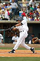 Charleston RiverDogs infielder Jose Javier (1) during a game against the Augusta GreenJackets at Joseph P.Riley Jr. Ballpark on April 15, 2015 in Charleston, South Carolina. Charleston defeated Augusta 8-0. (Robert Gurganus/Four Seam Images)