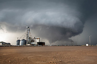 Tornado Near a Grain Factory in Leoti, KS