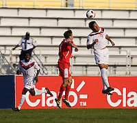 Sadi Jalali, Francisco Narbon. Canada played Panama during the CONCACAF Men's Under 17 Championship at Catherine Hall Stadium in Montego Bay, Jamaica.