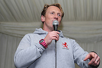 Peter Richards, Coach of London Scottish during Pre match hospitality ahead of the Greene King IPA Championship match between London Scottish Football Club and Nottingham Rugby at Richmond Athletic Ground, Richmond, United Kingdom on 16 October 2015. Photo by David Horn.