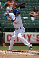 Round Rock Express designated hitter Matt Kata #15 at bat during the Pacific Coast League baseball game against the Memphis Redbirds on May 6, 2012 at The Dell Diamond in Round Rock, Texas. The Express defeated the Redbirds 5-1. (Andrew Woolley/Four Seam Images)