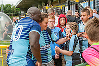Adebayo Akinfenwa of Wycombe Wanderers during the Wycombe Wanderers 2016/17 Team & Individual Squad Photos at Adams Park, High Wycombe, England on 1 August 2016. Photo by Jeremy Nako.