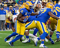 Pitt running back AJ Davis (21). The Boston College Eagles defeated the Pitt Panthers 26-19 in the football game played at Heinz Field, Pittsburgh Pennsylvania on November 30, 2019.