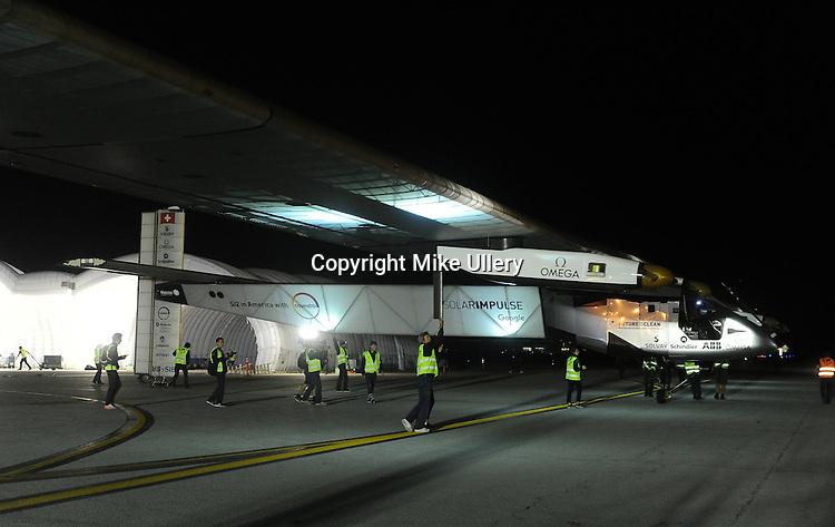 Solar Impulse 2 departs Dayton on May 25, 2016.