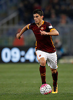 Calcio, Serie A: Roma vs Inter. Roma, stadio Olimpico, 19 marzo 2016.<br /> Roma's Diego Perotti in action during the Italian Serie A football match between Roma and FC Inter at Rome's Olympic stadium, 19 March 2016. The game ended 1-1.<br /> UPDATE IMAGES PRESS/Riccardo De Luca