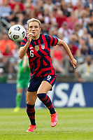 EAST HARTFORD, CT - JULY 5: Kristie Mewis #6 of the United States during a game between Mexico and USWNT at Rentschler Field on July 5, 2021 in East Hartford, Connecticut.
