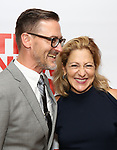 """Sharr White and Edie Falco attends the New Group World Premiere of """"The True"""" on September 20, 2018 at The Green Fig Urban Eatery in New York City."""