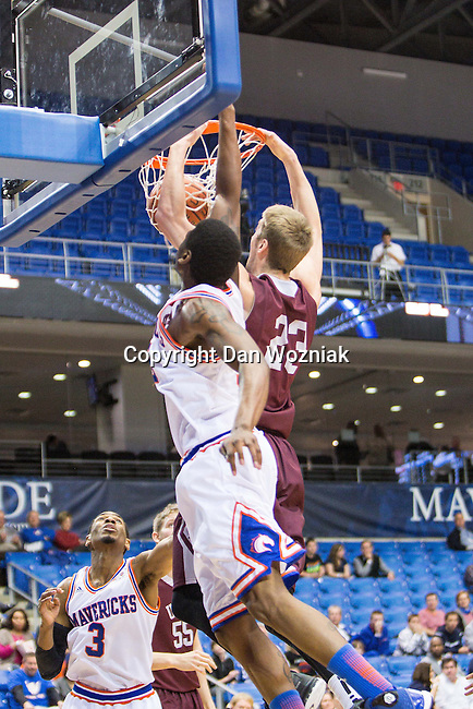 Arkansas Little Rock Trojans forward Will Neighbour (23) in action during the game between the Arkansas Little Rock Trojans and the Texas Arlington Mavericks at the College Park Center arena in Arlington, Texas. UALR defeats UTA 72 to 70.