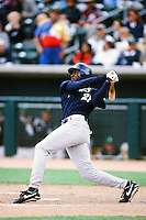 Gary Matthews,jr of the San Diego Padres bats during a 1999 Major League Baseball Spring Training Game in Phoenix, Arizona. (Larry Goren/Four Seam Images)