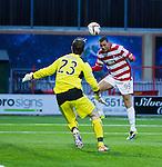 Mikael Antoine Curier scores for Hamilton past Morton keeper Nicolas Caraux