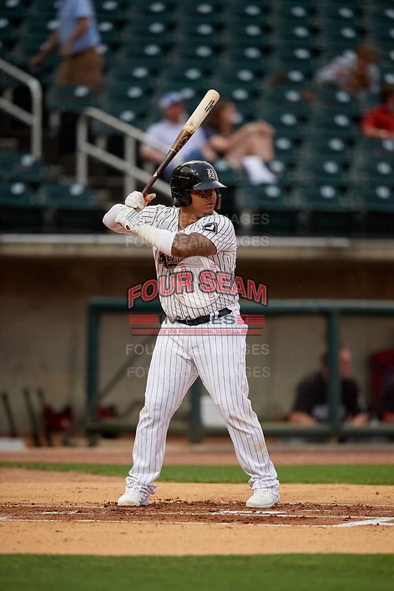 Birmingham Barons Yermin Mercedes (6) at bat during a Southern League game against the Chattanooga Lookouts on May 1, 2019 at Regions Field in Birmingham, Alabama.  Chattanooga defeated Birmingham 5-0.  (Mike Janes/Four Seam Images)