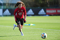 Pictured: Ethan Ampadu of Wales in action during the Wales Training Session at The Vale Resort in Cardiff, Wales, UK. Monday 11 November 2019