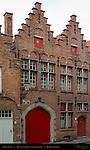 Street Scene: Houses on Grauwwerkersstraat, Bruges, Brugge, Belgium