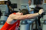 Sam Dickson. Gym session. 13 May 2015. London, England. Photo: Marc Weakley