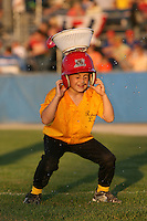 Batavia Muckdogs on field promotions during a game vs. the Auburn Doubledays at Dwyer Stadium in Batavia, New York July 2, 2010.   Batavia defeated Auburn 6-3.  Photo By Mike Janes/Four Seam Images