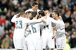 Real Madrid's players celebrate goal during La Liga match. March 20,2016. (ALTERPHOTOS/Acero)