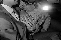 Pix: Copyright Anglia Press Agency/Archived via SWpix.com. The Bamber Killings. August 1985. Murders of Neville and June Bamber, daughter Sheila Caffell and her twin boys. Jeremy Bamber convicted of killings serving life...copyright photograph>>Anglia Press Agency>>07811 267 706>>..Jeremy Bamber covered by Essex police in back of car. no date..ref 0002 neg 13....