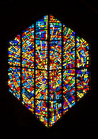 Abstract stained glass window.