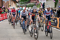first grupetto up the 15% climb in Guarene, 15 kilometers from the finish <br /> <br /> 104th Giro d'Italia 2021 (2.UWT)<br /> Stage 3 from Biella to Canale (190km)<br /> <br /> ©kramon